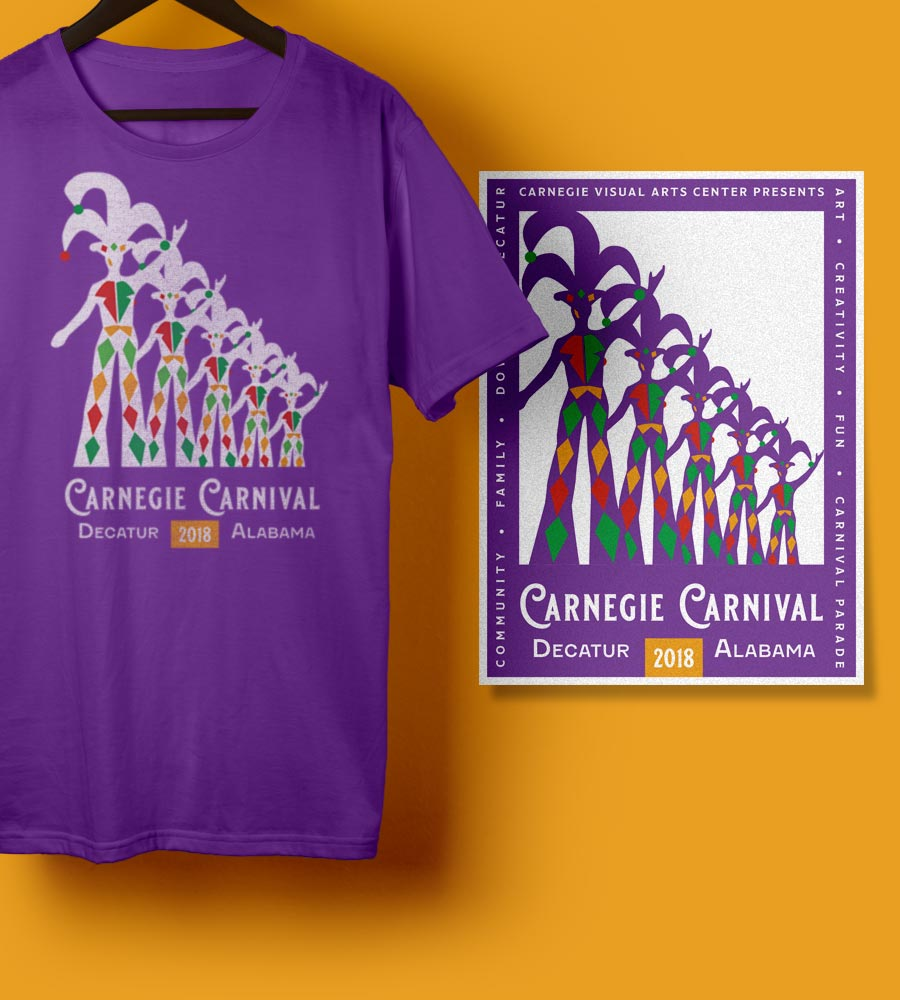 2018 Carnegie Carnival T-shirt and Poster